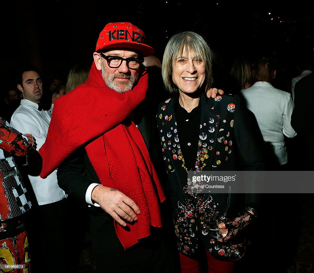 Musician <a gi-track='captionPersonalityLinkClicked' href=/galleries/search?phrase=Michael+Stipe&family=editorial&specificpeople=178318 ng-click='$event.stopPropagation()'>Michael Stipe</a> and Linda Yablonsky attend The New Museum Annual Spring Gala at Cipriani Wall Street on April 1, 2014 in New York City.