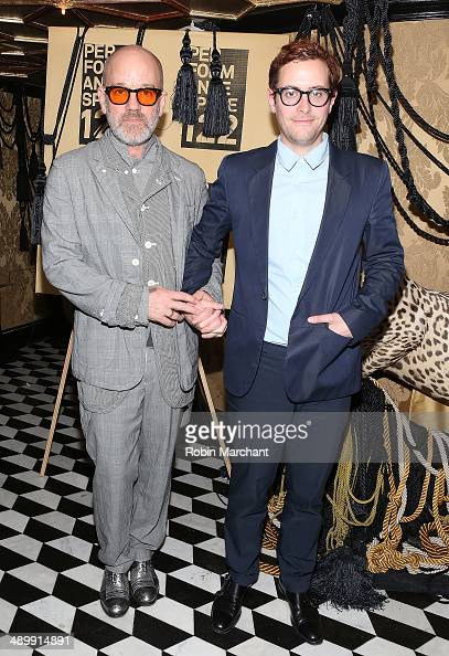 Musician Michael Stipe and Thomas Dozol attend the Performance Space 122 Spring 2014 Gala at Diamond Horseshoe on May 12 2014 in New York City