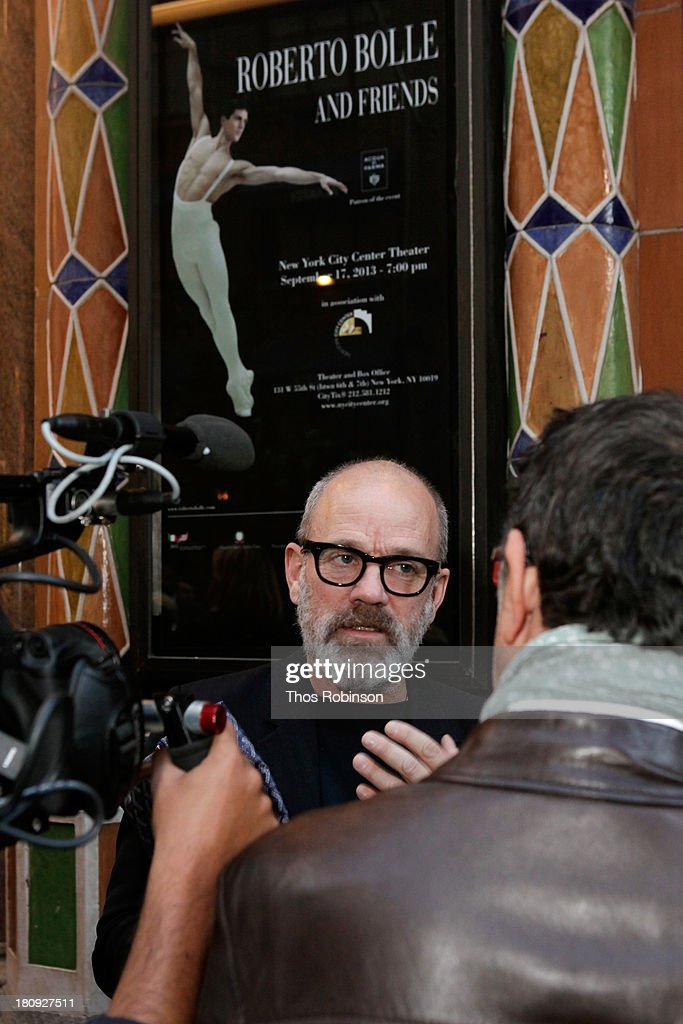 Musician <a gi-track='captionPersonalityLinkClicked' href=/galleries/search?phrase=Michael+Stipe&family=editorial&specificpeople=178318 ng-click='$event.stopPropagation()'>Michael Stipe</a> attends Acqua di Parma gala event: Roberto Bolle and Friends tribute to La nobilita' del Fare Giovanni Gastel photo exhibition, as part of 2013 year of Italian Culture in The US on September 17, 2013 in New York City.