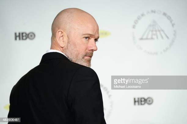 Musician Michael Stipe attends the 29th Annual Rock And Roll Hall Of Fame Induction Ceremony at Barclays Center of Brooklyn on April 10 2014 in New...