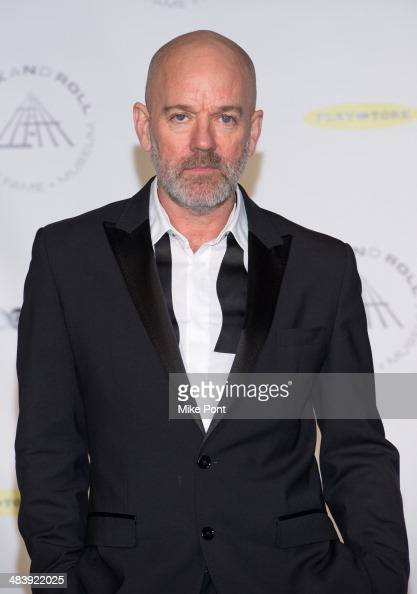 Musician Michael Stipe attends the 29th Annual Rock And Roll Hall Of Fame Induction Ceremony at Barclays Center on April 10 2014 in the Brooklyn...
