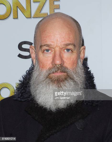 Musician Michael Stipe attends The Cinema Society SELF host a screening of Sony Pictures Classics' 'The Bronze' at Metrograph on March 17 2016 in New...
