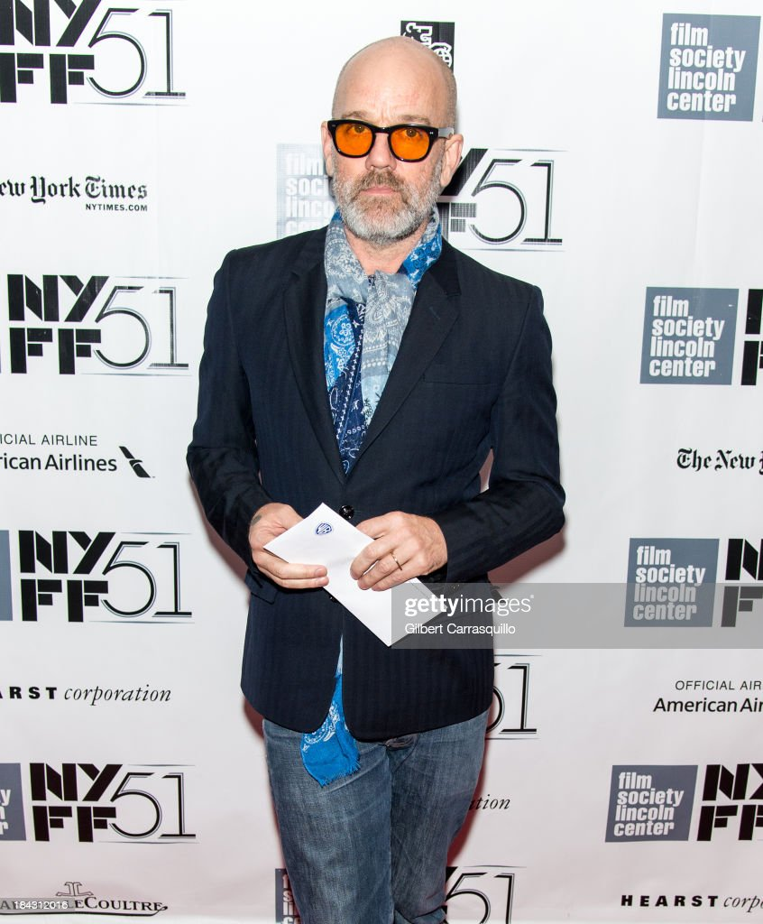 Musician Michael Stipe attends the Closing Night Gala Presentation Of 'Her' during the 51st New York Film Festival at Alice Tully Hall at Lincoln Center on October 12, 2013 in New York City.