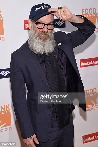 Musician Michael Stipe attends the Food Bank Of New York City's Can Do Awards 2016 hosted by Mario Batali at Cipriani Wall Street on April 20 2016 in...