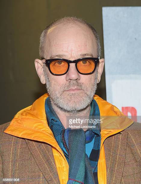 Musician Michael Stipe attends the New York premiere of the HBO Documentary Film 'Banksy Does New York' At DOC NYC on November 14 2014 in New York...