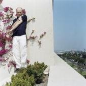 Musician Michael Stipe poses for a portrait shoot in Los Angeles USA