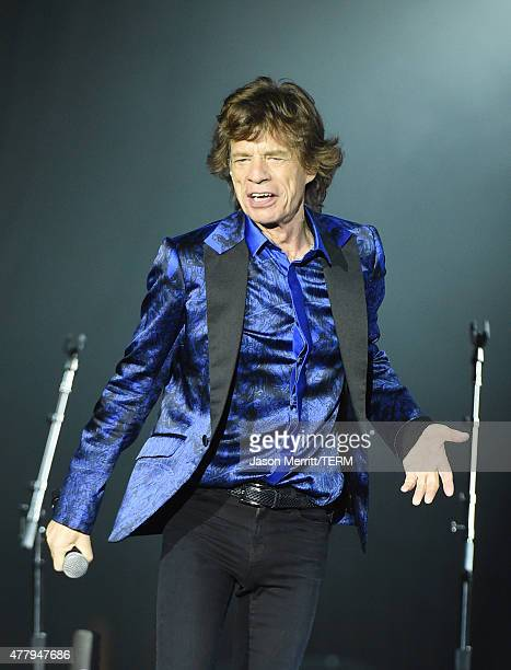 Musician Mick Jagger of The Rolling Stones performs at Heinz Field on June 20 2015 in Pittsburgh Pennsylvania