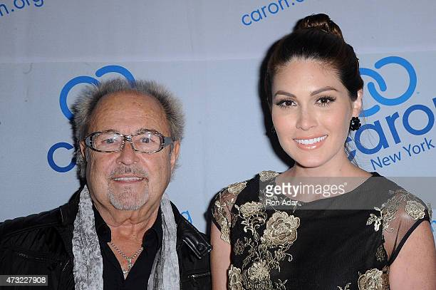 Musician Mick Jones of Foreigner and Ms Universe 2015 Gabriela Isler attend the 2015 Caron Treatment Centers NYC Gala at Cipriani 42nd Street on May...