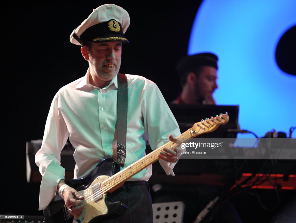 Musician Mick Jones performs with the Gorillaz at Day 3 of the Coachella Valley Music & Art Festival 2010 held at the Empire Polo Club on April 18, 2010 in Indio, California.