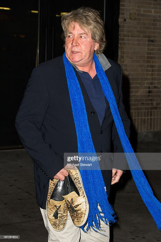 Musician Mick Taylor of the Rolling Stones seen outside the Gansevoort Hotel on November 7, 2013 in New York City.