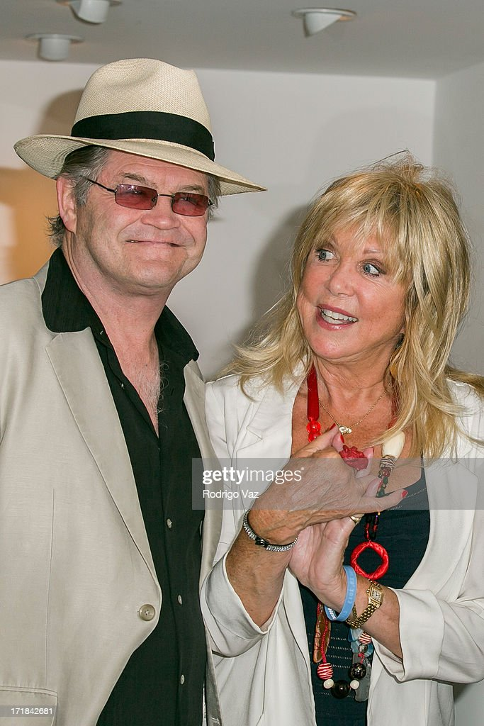 Musician Mickey Dolenz (L) and photographer Pattie Boyd attend the Pattie Boyd: Newly Discovered Photo Exhibition at Morrison Hotel Gallery on June 28, 2013 in West Hollywood, California.