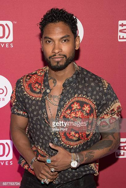 Musician Miguel attends the The Supper hosted by Mario Batali with Anthony Bourdain at 225 Liberty Street on June 2 2016 in New York City