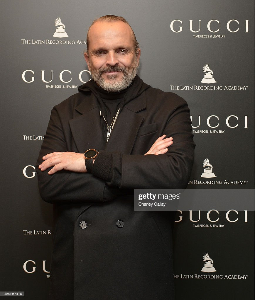 Musician Miguel Bose attends Gucci Timepieces Jewelry honoring the performers of The Latin Recording Academy Person Of The Year Gala on November 18...