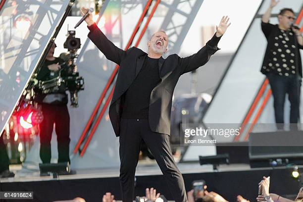 Musician Miguel Bose performs onstage at Univision and Fusion host RiseUp AS ONE at Cross Border Xpress on October 15 2016 in San Diego California