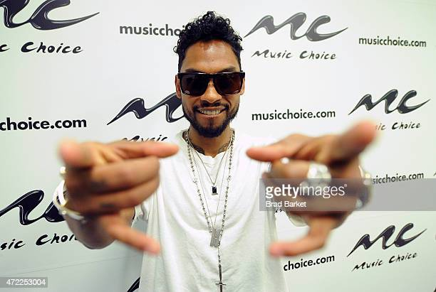 Musician Miguel visits Music Choice at Music Choice on May 5 2015 in New York City