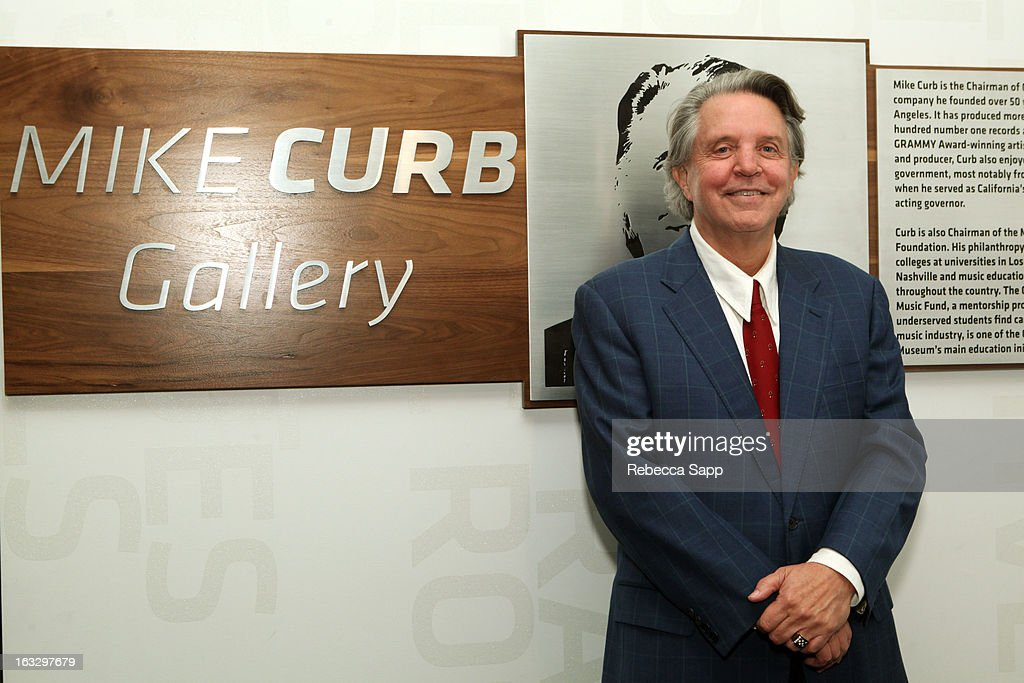 Musician Mike Curb at the Mike Curb Gallery Opening at The GRAMMY Museum on March 7, 2013 in Los Angeles, California.