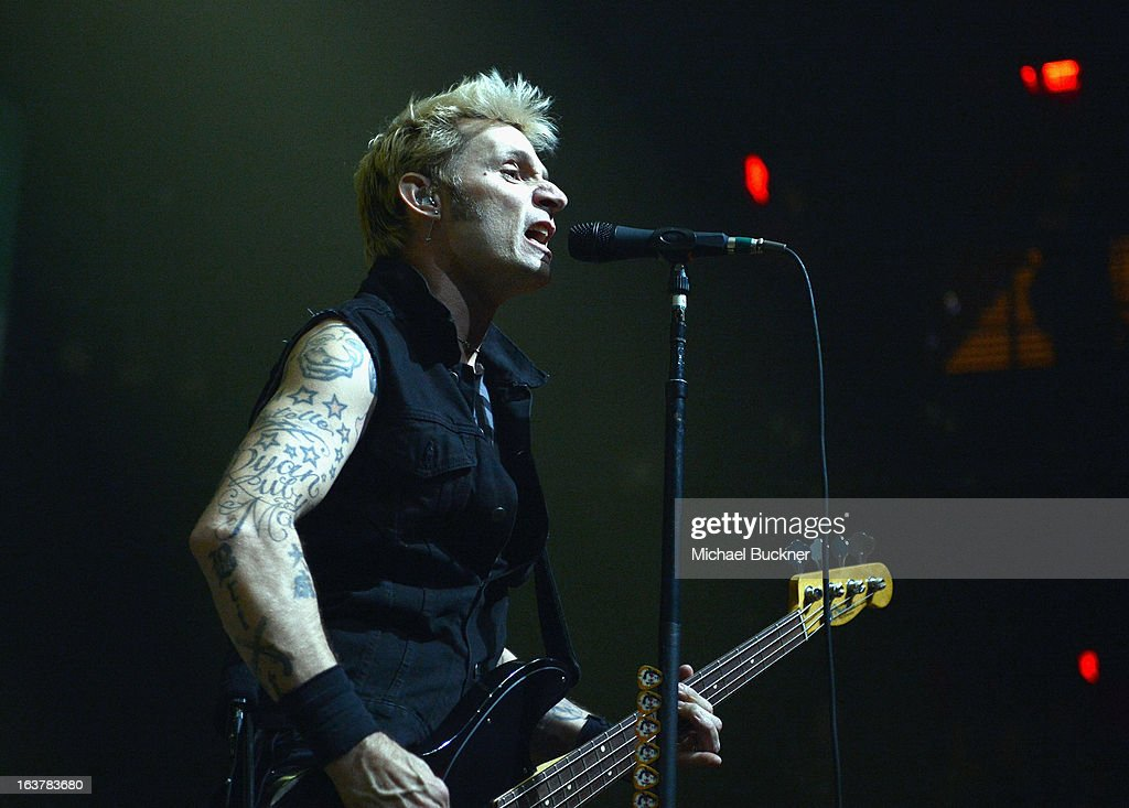 Musician <a gi-track='captionPersonalityLinkClicked' href=/galleries/search?phrase=Mike+Dirnt&family=editorial&specificpeople=204154 ng-click='$event.stopPropagation()'>Mike Dirnt</a> of Green Day performs during the 2013 SXSW Music, Film + Interactive Festival at ACL Live on March 15, 2013 in Austin, Texas.