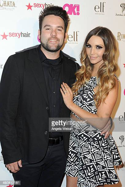 Musician Mike Shay and TV personality Scheana Marie attend OK Magazine's So Sexy LA Event at LURE on May 21 2014 in Los Angeles California