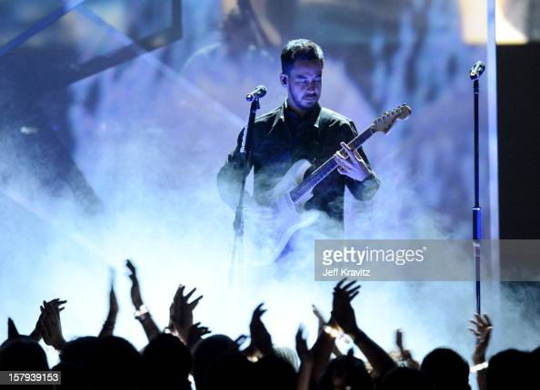 Musician Mike Shinoda of Linkin Park speaks onstage during Spike TV's 10th annual Video Game Awards at Sony Pictures Studios on December 7 2012 in...