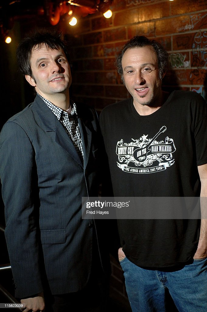 Musician Mike Viola and Dan Bern attend the Music Cafe during the 2008 Sundance Film Festival on January 25 2008 in Park City Utah