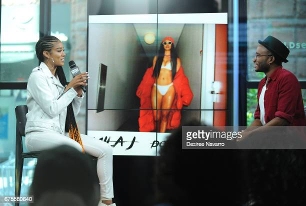 Musician Mila J attends Build Series to discuss 'Dopamine' at Build Studio on May 1 2017 in New York City
