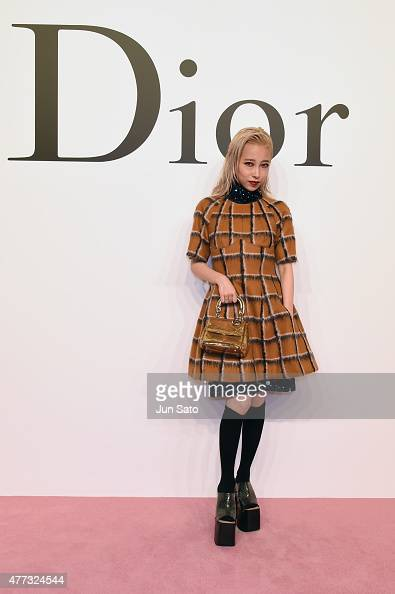 Musician Miliyah Kato arrives at the Christian Dior TOKYO Autumn/Winter 201516 ReadyToWear Show at The National Art Center Tokyo on June 16 2015 in...