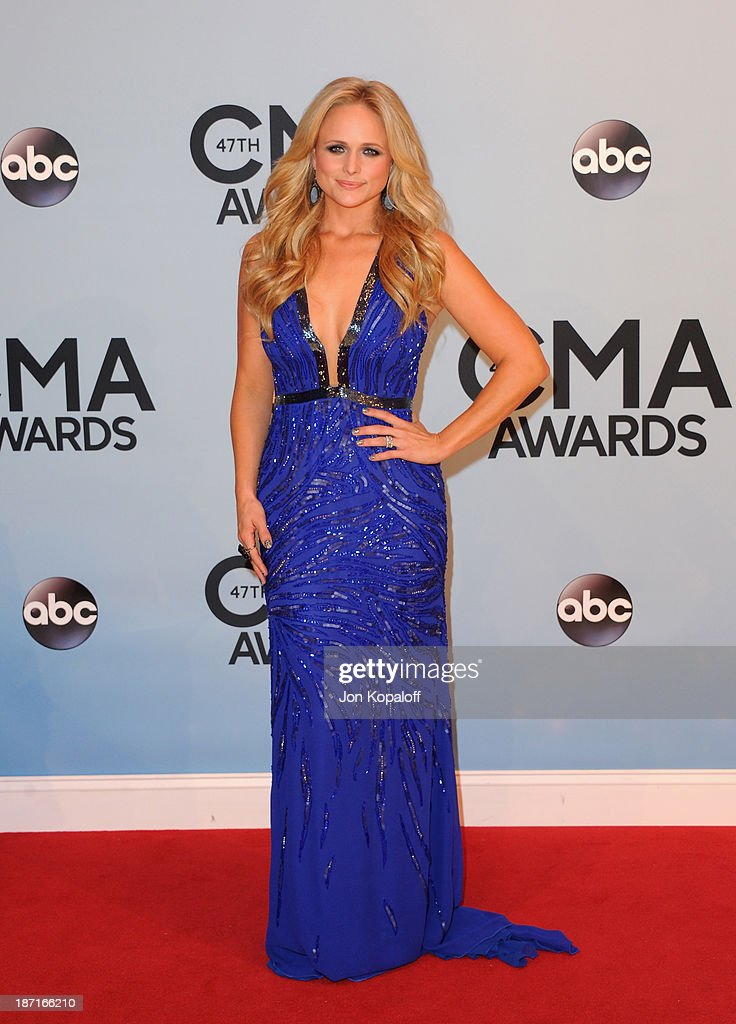 Musician Miranda Lambert attends the 47th annual CMA Awards at the Bridgestone Arena on November 6, 2013 in Nashville, Tennessee.