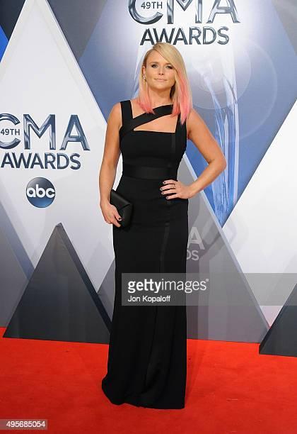 Musician Miranda Lambert attends the 49th annual CMA Awards at the Bridgestone Arena on November 4 2015 in Nashville Tennessee