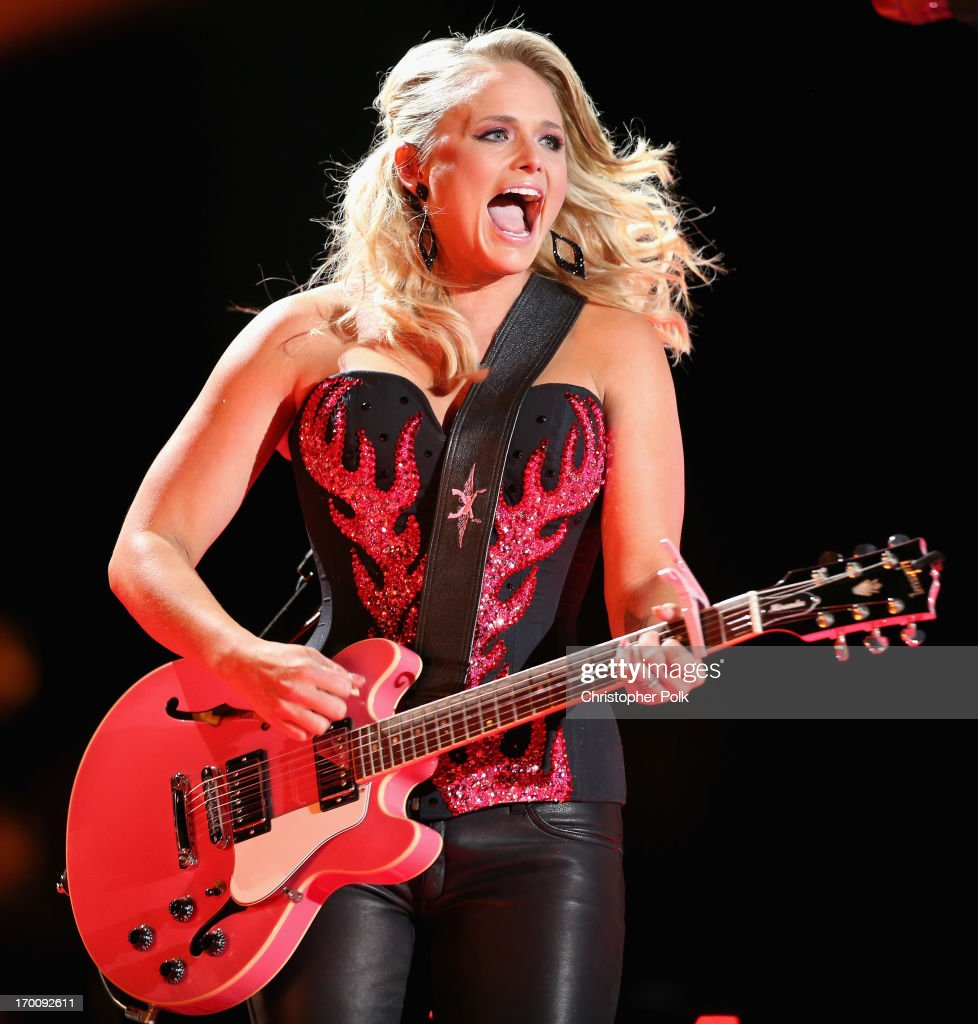 Musician <a gi-track='captionPersonalityLinkClicked' href=/galleries/search?phrase=Miranda+Lambert&family=editorial&specificpeople=571972 ng-click='$event.stopPropagation()'>Miranda Lambert</a> performs during the 2013 CMA Music Festival on June 6, 2013 in Nashville, Tennessee.
