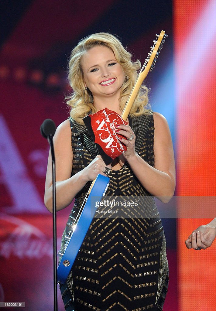 Musician <a gi-track='captionPersonalityLinkClicked' href=/galleries/search?phrase=Miranda+Lambert&family=editorial&specificpeople=571972 ng-click='$event.stopPropagation()'>Miranda Lambert</a> speaks onstage at the American Country Awards 2011 at the MGM Grand Garden Arena on December 5, 2011 in Las Vegas, Nevada.