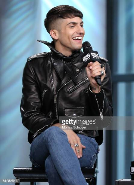 Musician Mitch Grassi of Superfruit discusses their debut album 'Future Friends' at Build Studio on July 11 2017 in New York City
