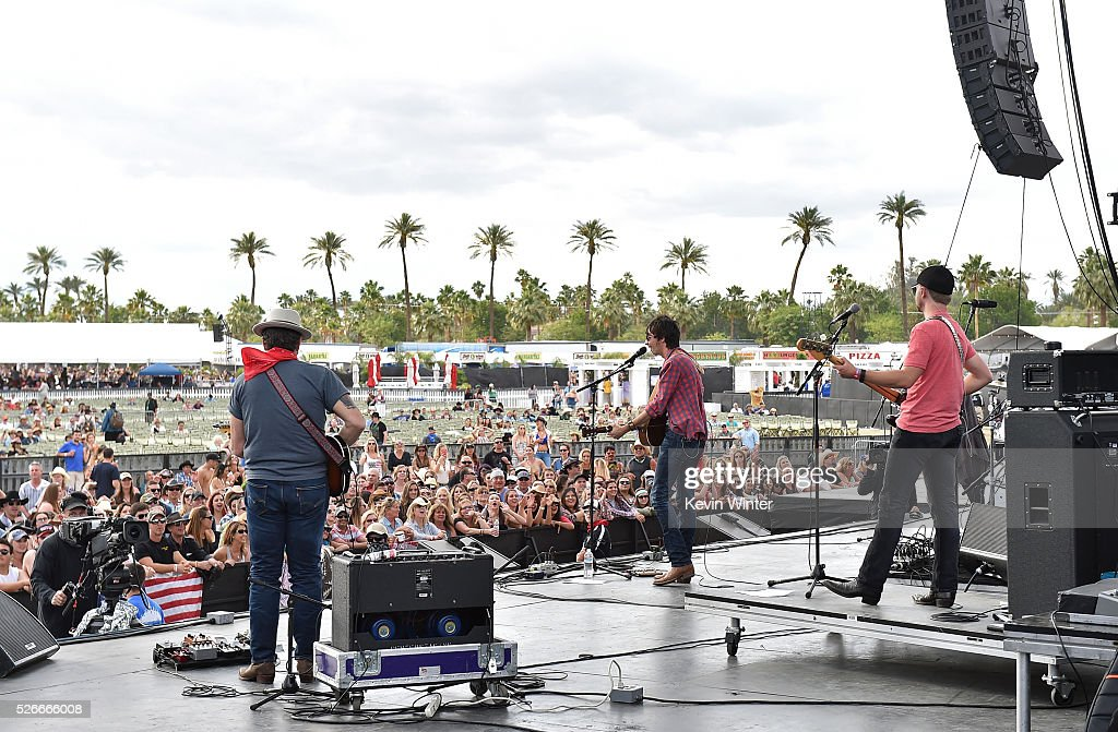 Musician Mo Pitney performs onstage during 2016 Stagecoach California's Country Music Festival at Empire Polo Club on April 30, 2016 in Indio, California.