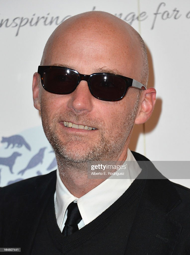 Musician Moby arrives to the 2013 Genesis Awards Benefit Gala at The Beverly Hilton Hotel on March 23, 2013 in Beverly Hills, California.