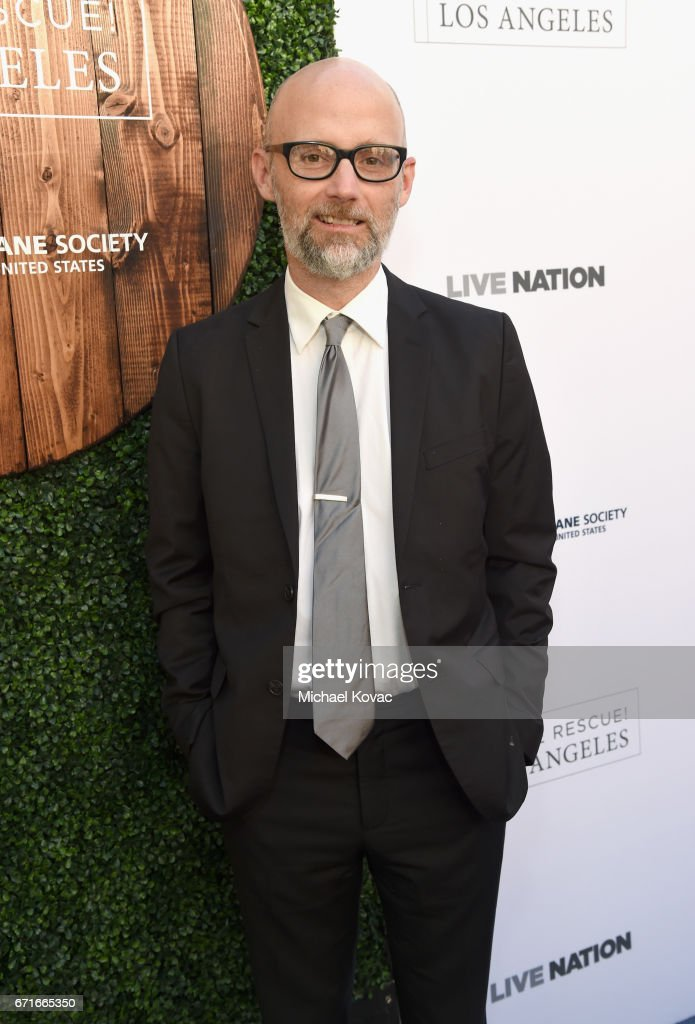 Musician Moby at The Humane Society of the United States' To the Rescue Los Angeles Gala at Paramount Studios on April 22, 2017 in Hollywood, California.