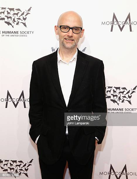 Musician Moby attends 2016 Humane Society of the United States to the Rescue New York 'Saving Animal Lives' at Cipriani 42nd Street on November 18...