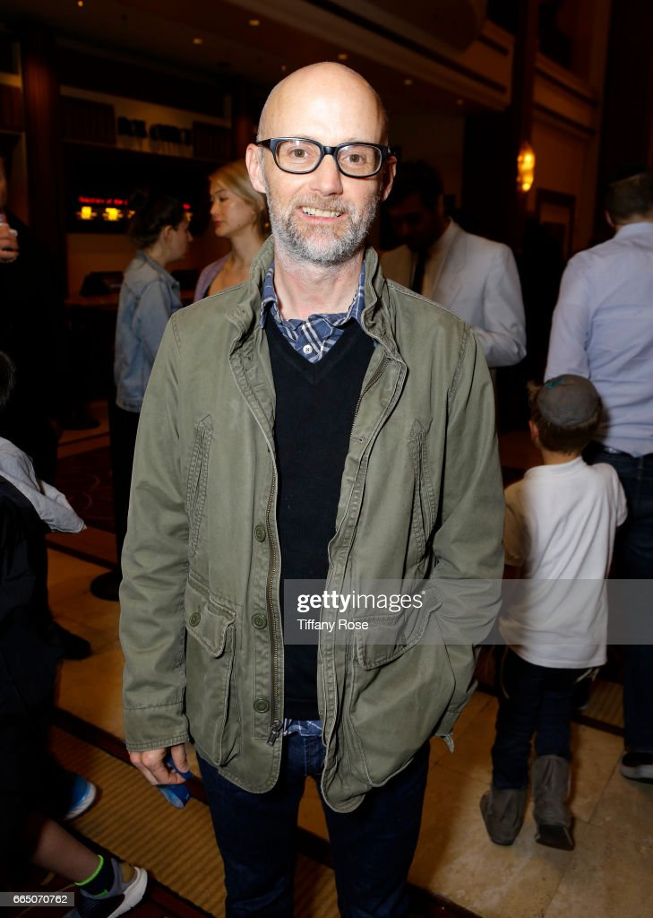 Musician Moby attends 'Shot! The Psycho - Spiritual Mantra of Rock' LA Premiere Presented by Citi at The Grove on April 5, 2017 in Los Angeles, California.