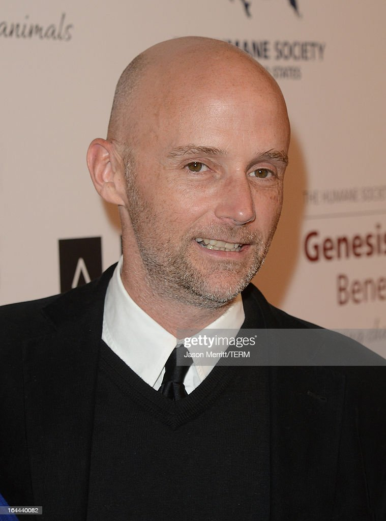 Musician <a gi-track='captionPersonalityLinkClicked' href=/galleries/search?phrase=Moby&family=editorial&specificpeople=203129 ng-click='$event.stopPropagation()'>Moby</a> attends The Humane Society of the United States 2013 Genesis Awards Benefit Gala at The Beverly Hilton Hotel on March 23, 2013 in Los Angeles, California.