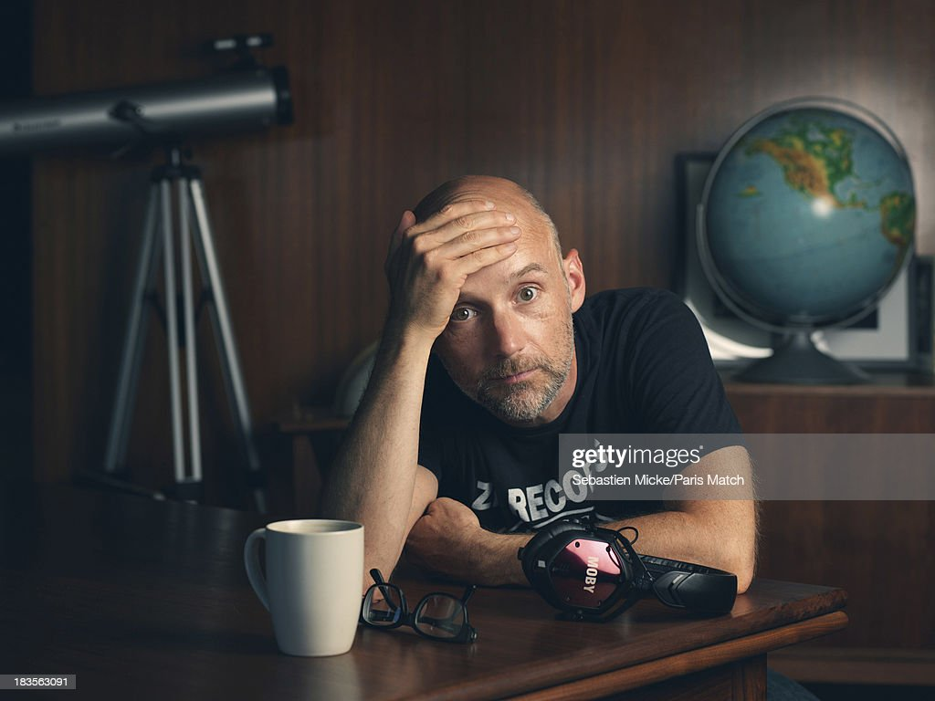 Musician <a gi-track='captionPersonalityLinkClicked' href=/galleries/search?phrase=Moby&family=editorial&specificpeople=203129 ng-click='$event.stopPropagation()'>Moby</a> is photographed at home for Paris Match on June 27, 2013 in Los Angeles, California.