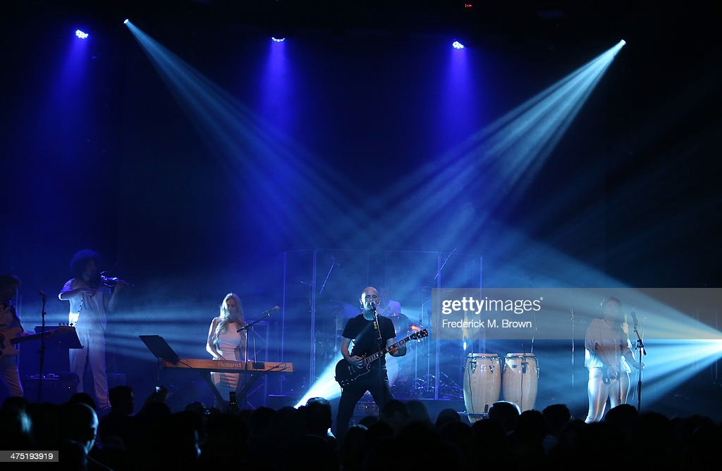 Musician Moby performs at Global Green USA's 11th Annual PreOscar party at Avalon on February 26 2014 in Hollywood California