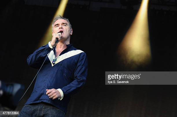 Musician Morrissey performs onstage during day 2 of the Firefly Music Festival on June 19 2015 in Dover Delaware