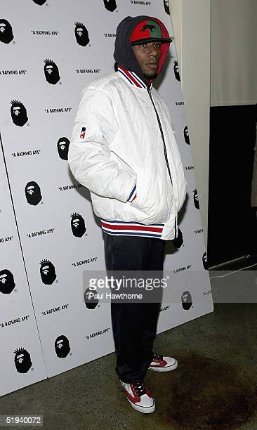 Musician Mos Def attends the store opening of 'Nigo's A Bathing Ape' with Pharrell Williams after party at the Canal Room January 11 2005 in New York...