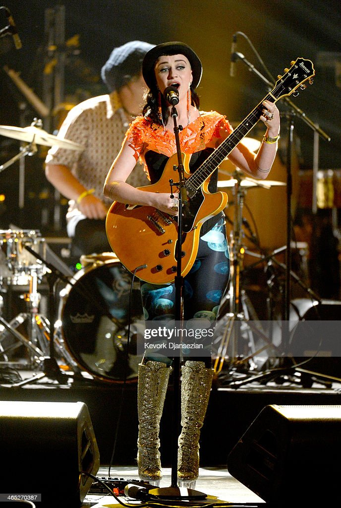 Musician Nai Palm of Hiatus Kaiyote performs onstage during the 56th GRAMMY Awards Pre-Telecast Show at Nokia Theatre L.A. Live on January 26, 2014 in Los Angeles, California.