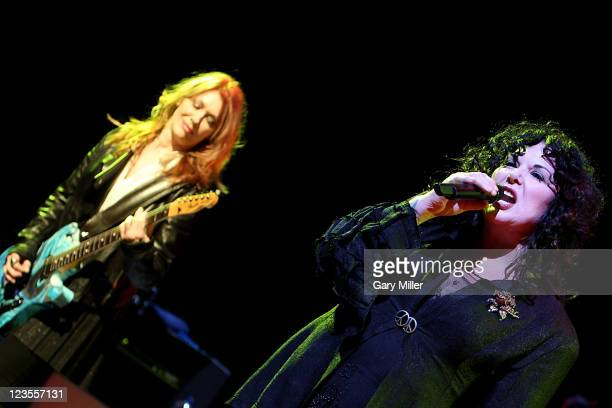 Musician Nancy Wilson and vocalist Ann Wilson of Heart perform in concert at ACL Live on April 7 2011 in Austin Texas