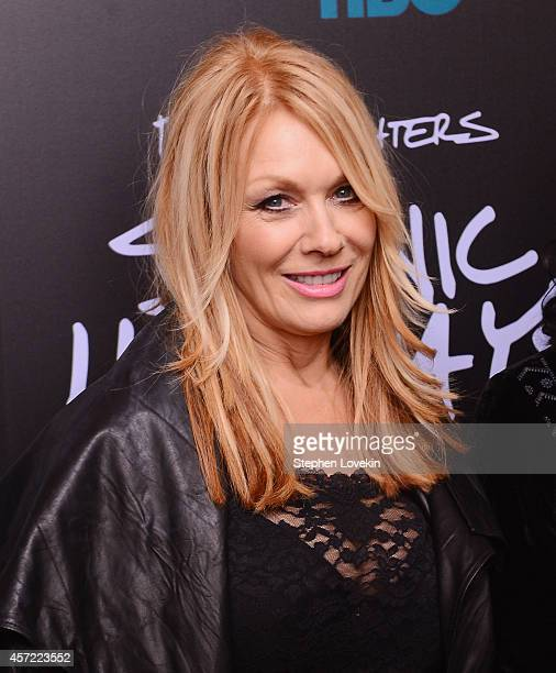 Musician Nancy Wilson of Heart attends The 'Foo Fighters Sonic Highways' New York Premiere at Ed Sullivan Theater on October 14 2014 in New York City