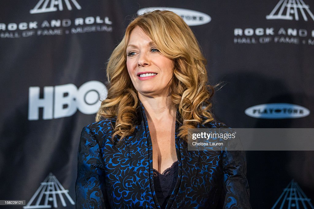 Musician Nancy Wilson of Heart attends the Rock Roll Hall of Fame 2013 Inductee Press Conference at Nokia Theatre LA Live on December 11 2012 in Los...