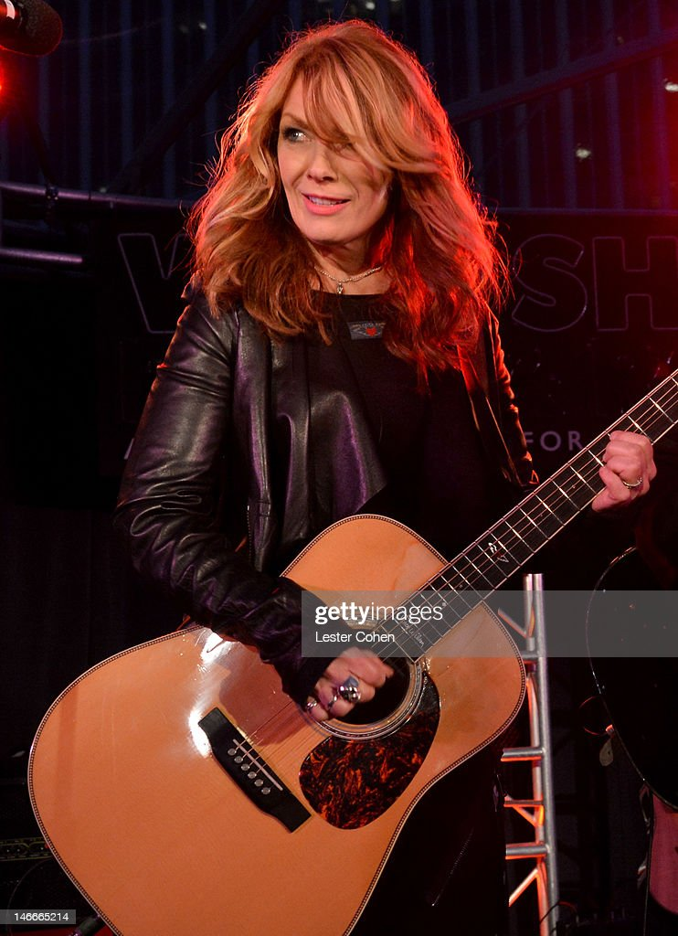 Musician Nancy Wilson of the band Heart performs at the Who Shot Rock Roll Opening Night VIP Reception at the Annenberg Space For Photography on June...
