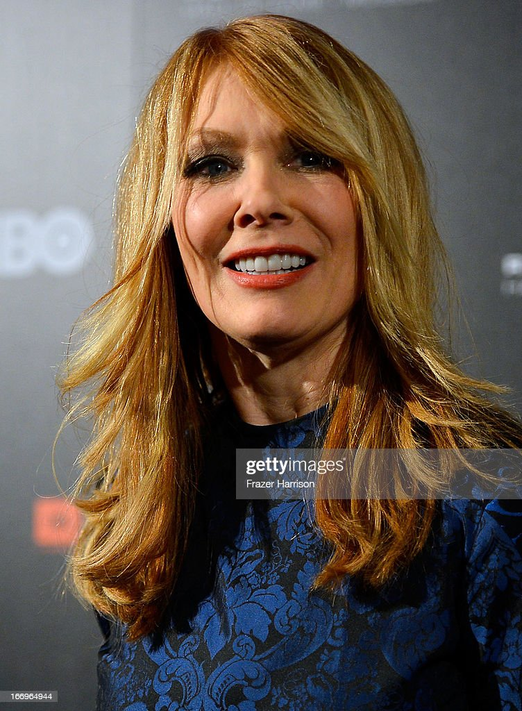 Musician Nancy Wilson poses in the press room at the 28th Annual Rock and Roll Hall of Fame Induction Ceremony at Nokia Theatre LA Live on April 18...