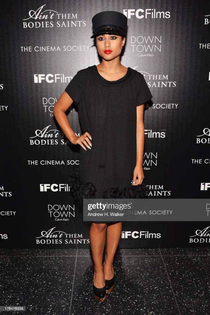 Musician Natalia Kills attends the Downtown Calvin Klein with The Cinema Society screening of IFC Films' 'Ain't Them Bodies Saints' at the Museum of...