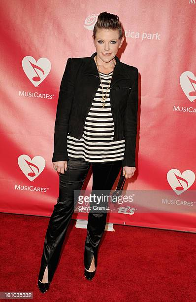 Musician Natalie Maines of Dixie Chicks attends MusiCares Person Of The Year Honoring Bruce Springsteen at Los Angeles Convention Center on February...