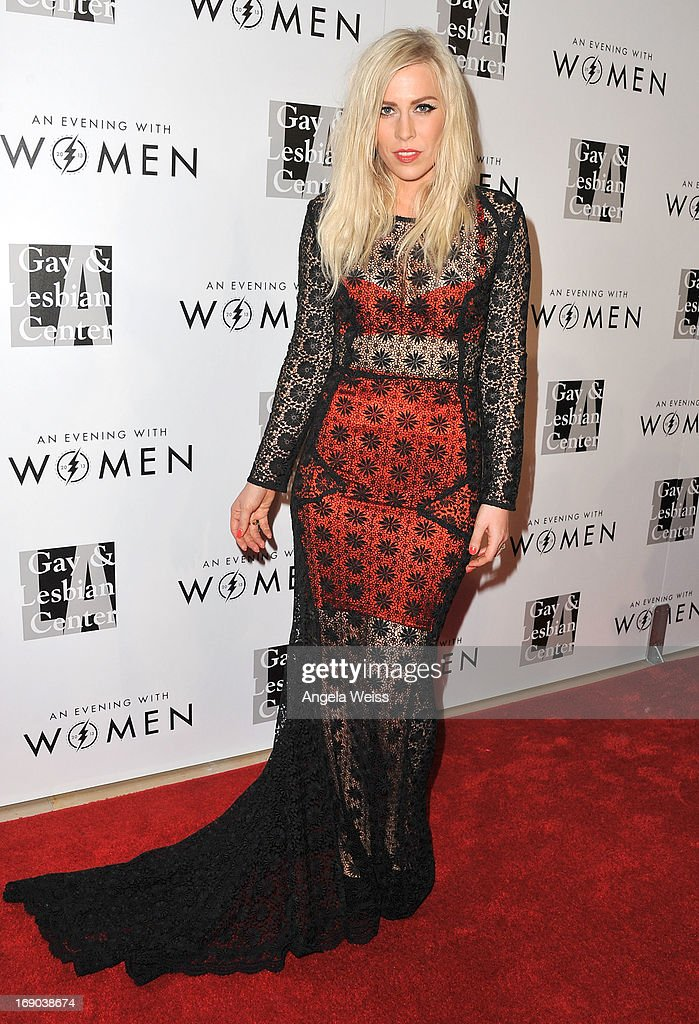 Musician Natasha Bedingfield arrives at the L.A. Gay & Lesbian Center's 2013 'An Evening With Women' Gala at The Beverly Hilton Hotel on May 18, 2013 in Beverly Hills, California.